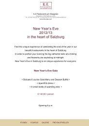 New Year's Eve Gala - K+K Hotels