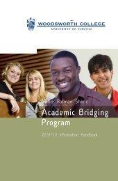 Academic Bridging Program - Woodsworth College - University of ...