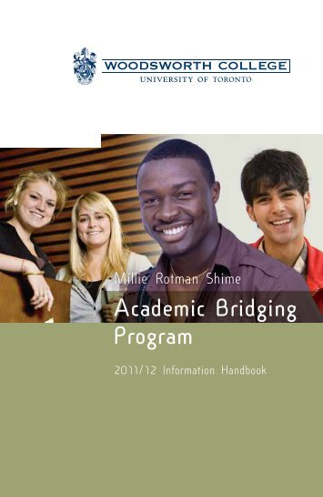Academic Bridging Program - Woodsworth College - University of ...
