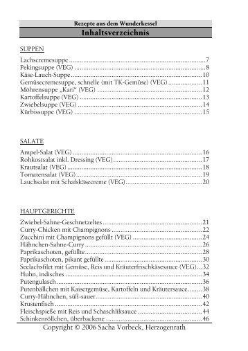 Inhaltsverzeichnis - Wunderkessel-kochbuch.de