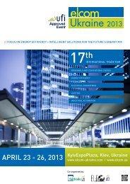 APrIl 23 - 26, 2013 - Elcom-ukraine.com