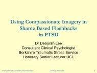 Using Compassionate Imagery in Shame Based Flashbacks ... - ukpts