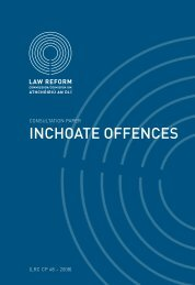 Consultation Paper on Inchoate Offences - Law Reform Commission
