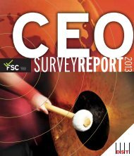 2013 FSC/DST CEO Survey released - The Financial Services Council