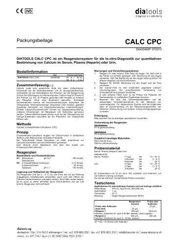 CALC CPC - diatools AG
