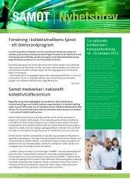 Nyhetsbrev nr 1 - Karlstads universitet