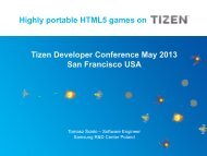 Highly portable HTML5 games on Tizen Developer Conference May ...