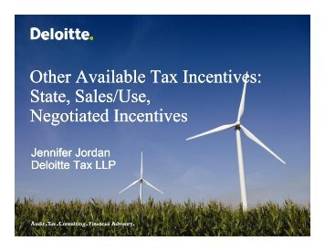 Other Available Tax Incentives: State, Sales/Use ... - Deloitte