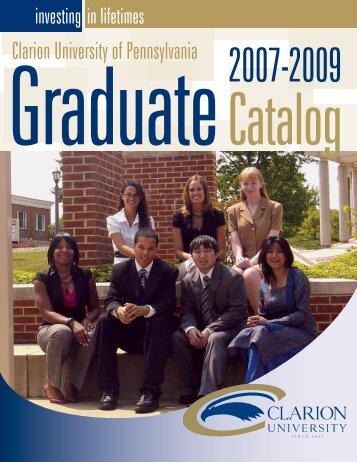 Graduate - Clarion University