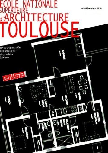N°8, décembre 2012 - Ecole nationale supérieure d'architecture de ...