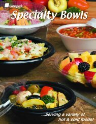 Specialty Bowls: Plastic, Clear And Foam Serving Bowls - Genpak
