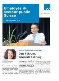 Employés du secteur public Suisse
