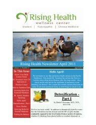 Volume 4 Issue 4 April 2011 - Rising Health Wellness Center
