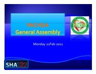 PACHDA General Assembly - Sha-conferences.com