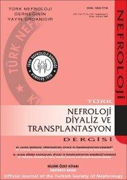 nefroloj‹ d‹ - Türk Nefroloji Derneği