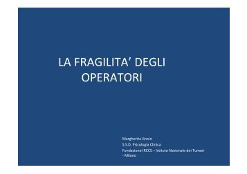 Dott.ssa Margherita Greco