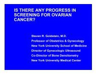 Is there any progress in screening for ovarian cancer?