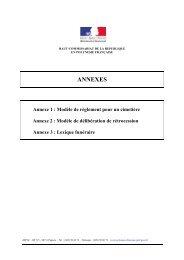annexes - Haut-Commissariat de la république en Polynésie française