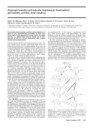 Organogel formation and molecular imprinting by functionalized ...