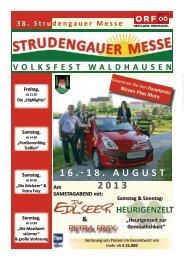 Messezeitung 2013 - Strudengauer Messe