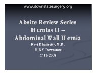 Abdominal Wall Hernia - Department of Surgery at SUNY Downstate ...