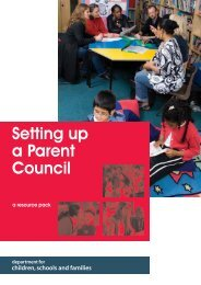 Setting up a Parent Council - DCSF booklet - the Essex Clerks