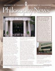 Fall 2007 Newsletter - Department of Philosophy - University of ...
