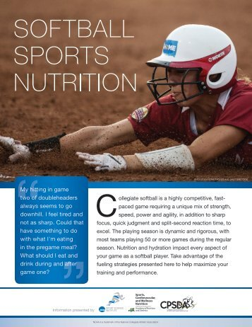 Softball Sports Nutrition