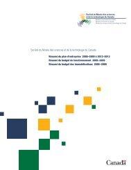 Résumé du plan d'entreprise 2008-2009 à 2012-2013 - Musée des ...