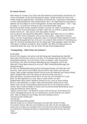Erfahrungsbericht - EWK-Verlag