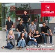 Gestalten Sie mit! Ausbildung bei Klostermann