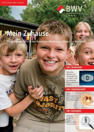 """""""Mein Zuhause."""" 2009.pdf - Beamten-Wohnungs-Verein zu Berlin eG"""