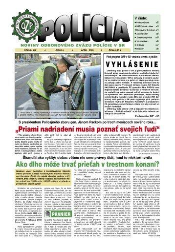VYHL Á SENIE - Odborový zväz polície v Slovenskej republike