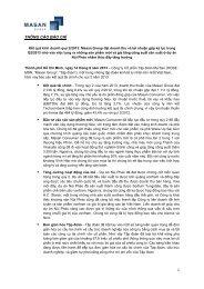 Công bố thông tin lợi nhuận Q2-2013 - Masan Group