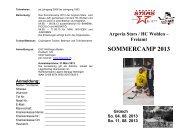SOMMERCAMP 2013 - Argovia Stars