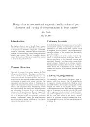 Design of an intra-operational augmented reality enhanced port ...