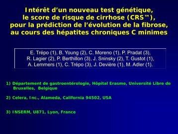 Intérêt d'un nouveau test génétique, le score de risque de ... - Afef