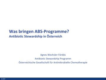 Agnes Wechsler-Fördöz, Wien - PEG-Symposien