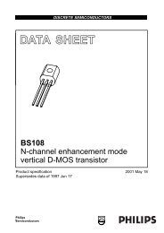 BS108 N-channel enhancement mode vertical D-MOS transistor