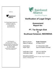 PT. Tiar Bungin Elok In Southeast Sulawesi, INDONESIA