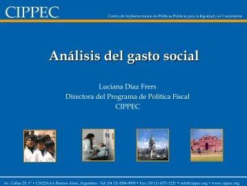 Análisis del gasto social - Cemupro