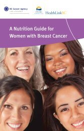 A Nutrition Guide for Women with Breast Cancer - BC Cancer Agency
