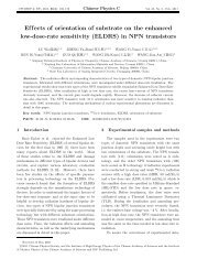 Effects of orientation of substrate on the enhanced low-dose-rate ...