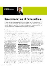 [pdf] Ergoterapeut på et forsorgshjem