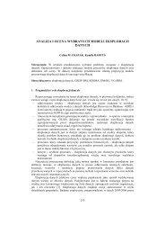 Analiza i ocena wybranych modeli eksploracji danych - PTZP