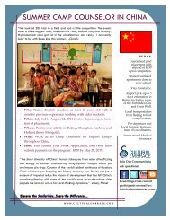 SUMMER CAMP COUNSELOR IN CHINA