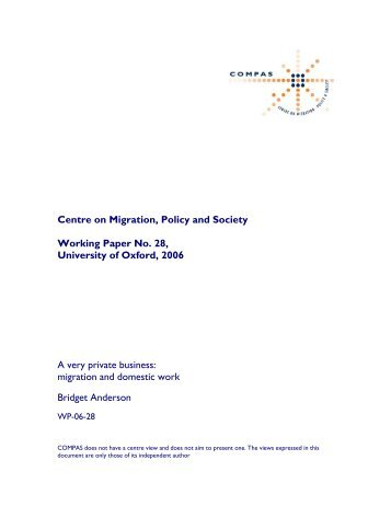 migration and domestic work - COMPAS - University of Oxford