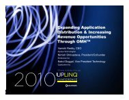 Expanding Application Di t ib ti & I i Distribution & Increasing ... - Uplinq