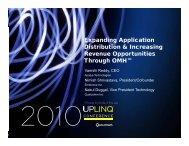 Expanding Application Di t ib ti & I i Distribution & Increasing ... - Uplinq