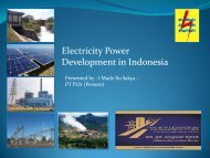 Electricity Power Development in Indonesia